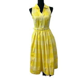 ModCloth x Collectif Yellow Plaid Picnic Dress
